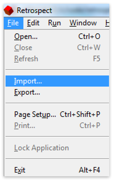 Configs win import1 menu