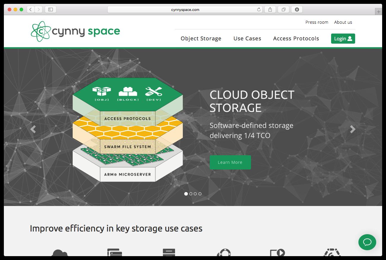 Cynnyspace homepage