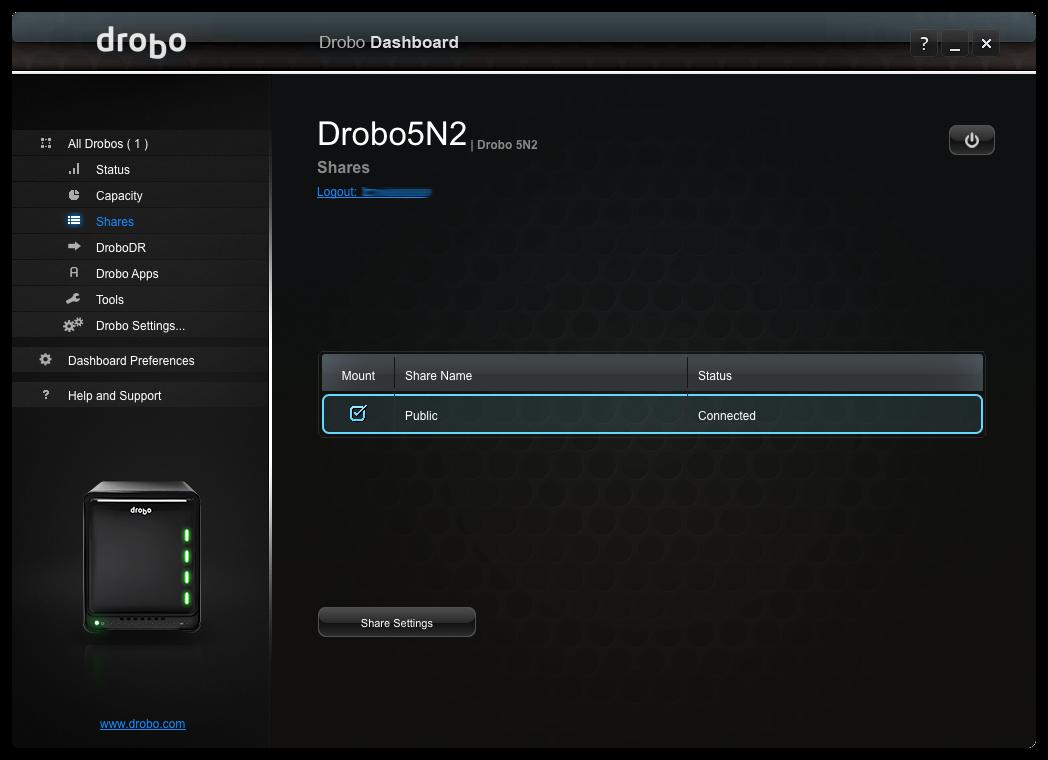 Drobo setup1