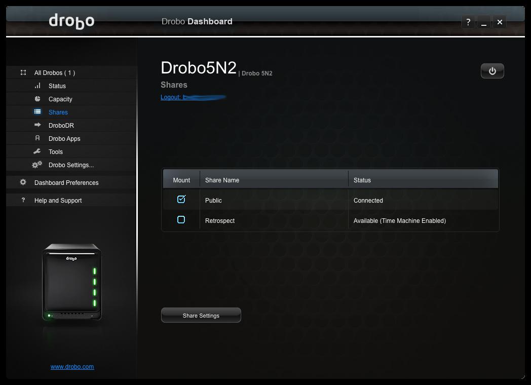 Drobo setup5