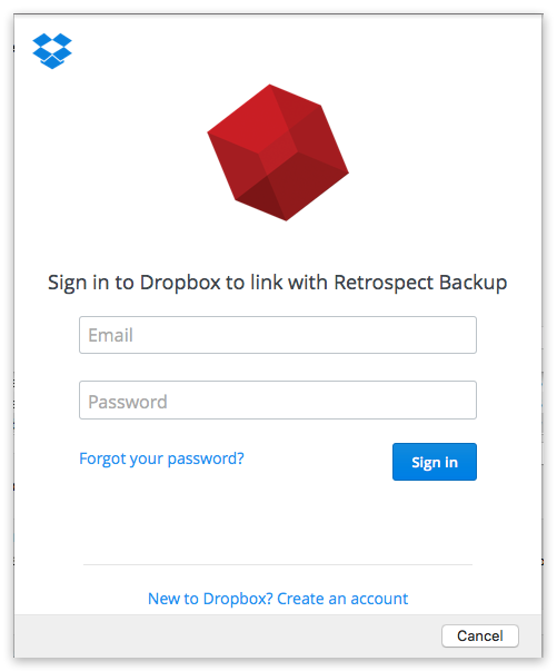 Dropbox auth mac sign in