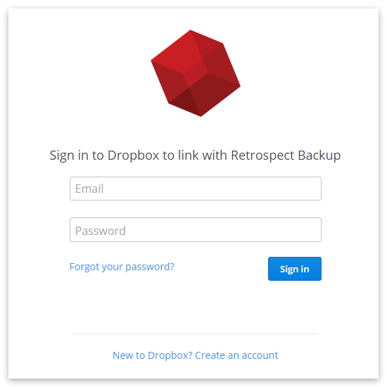 Dropbox auth win sign in