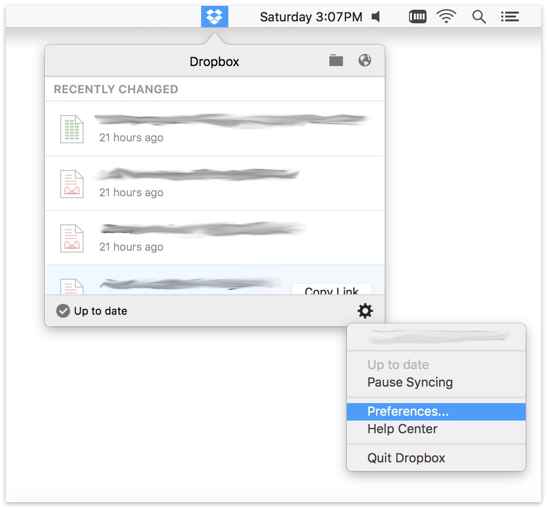 Dropbox menu.mac