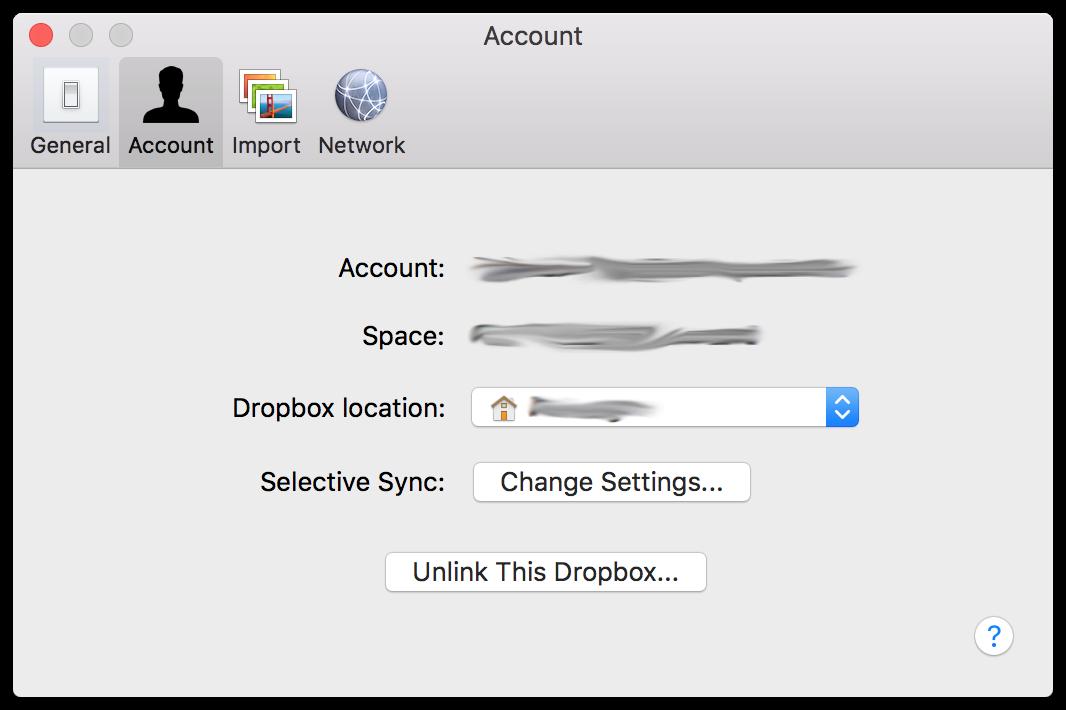 Dropbox preferences.mac