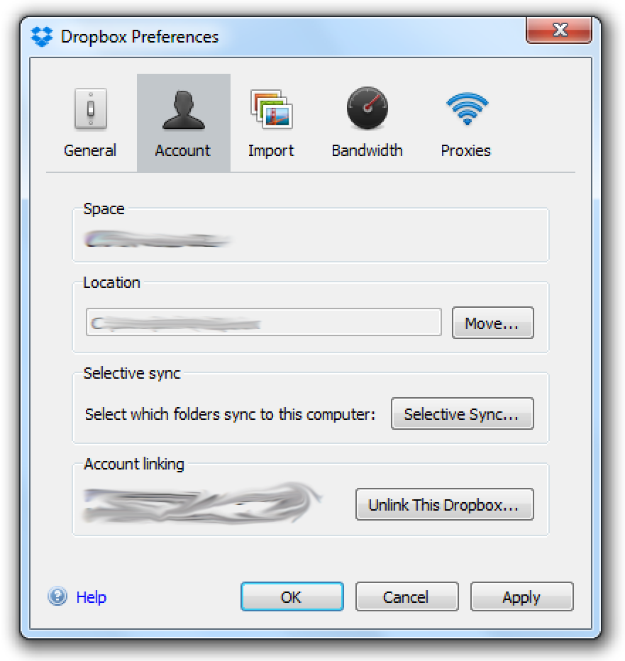 Dropbox preferences.win