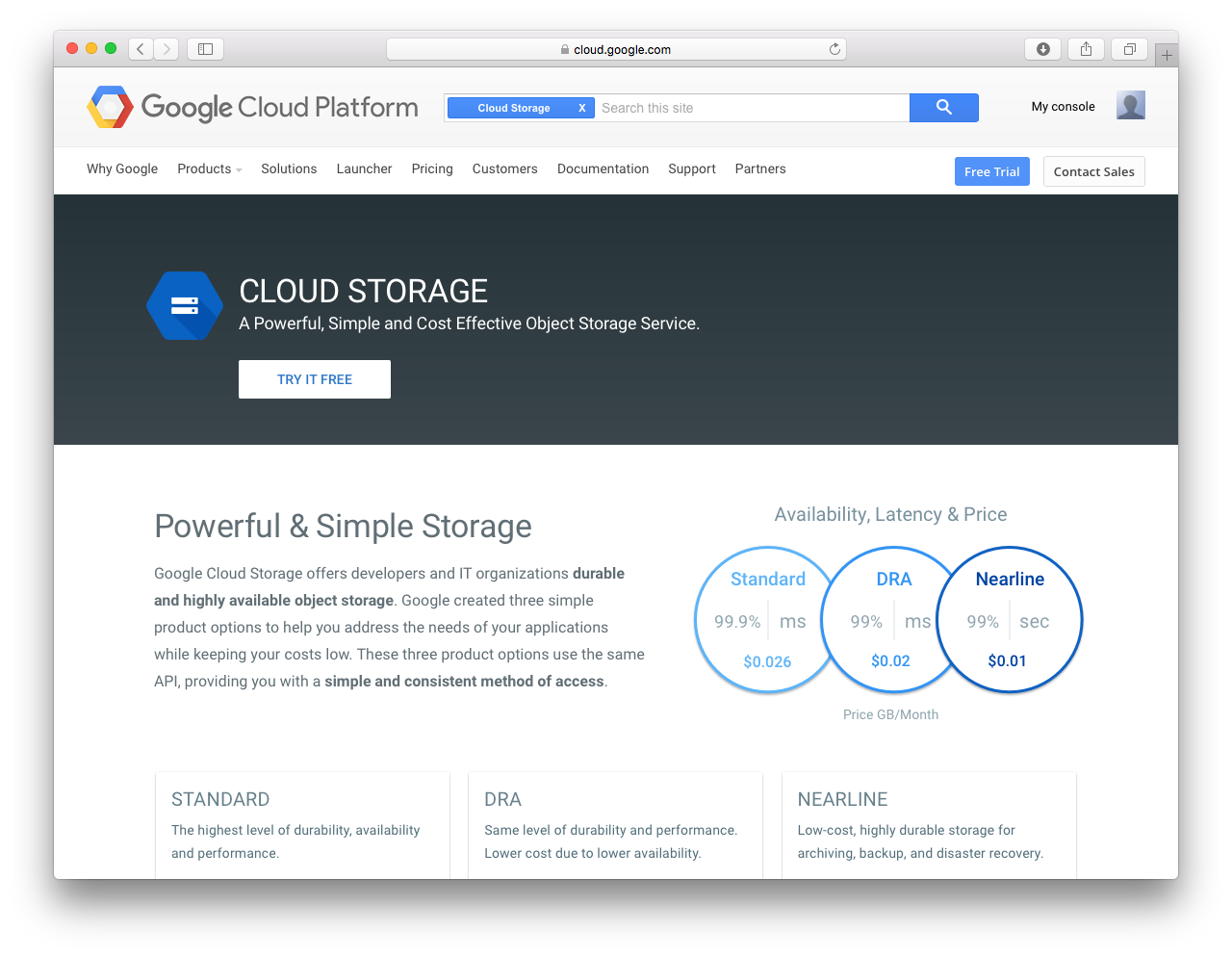 1 google cloud storage