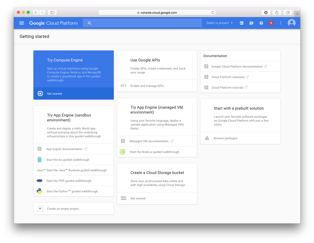 3 google cloud dashboard