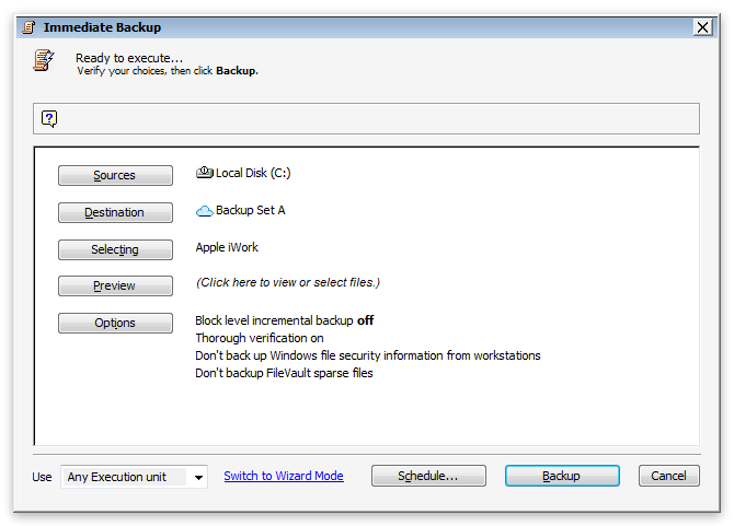 Kb application backup apple iwork win script