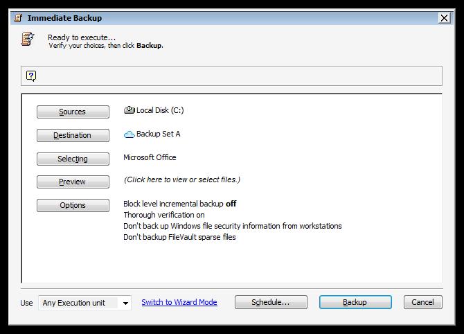 Kb application backup microsoft office win script