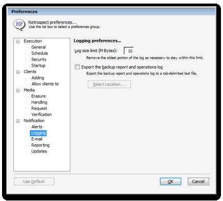 Kb win log limit prefs