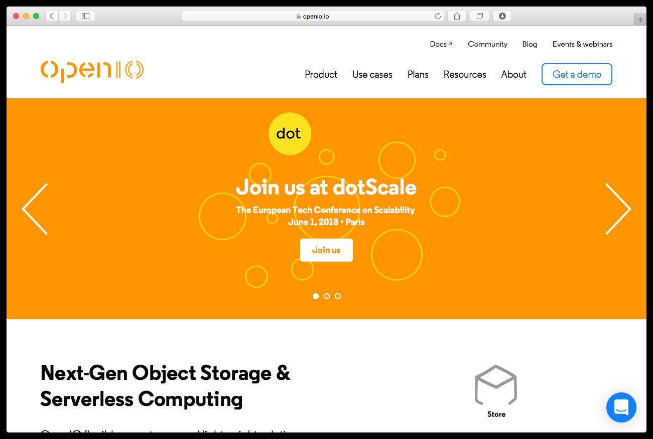 Openio homepage