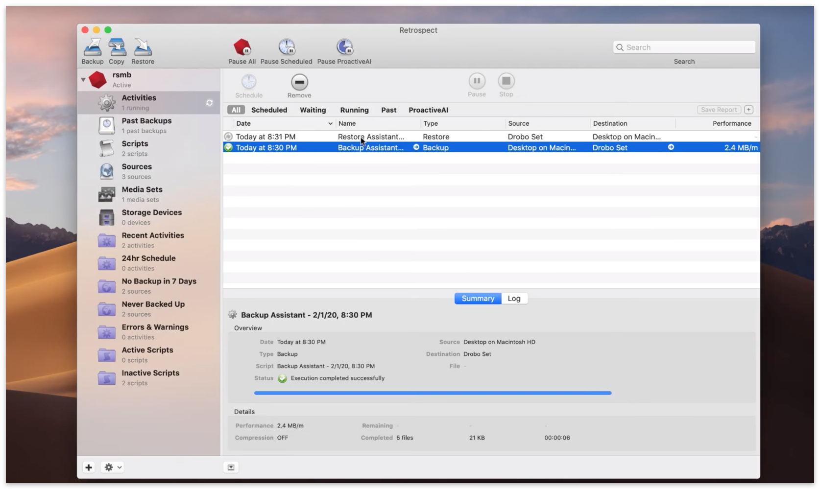 Quick start mac 14 restoring