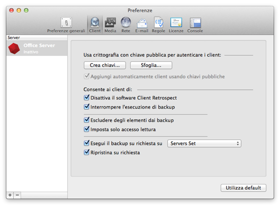Preferences clients.it