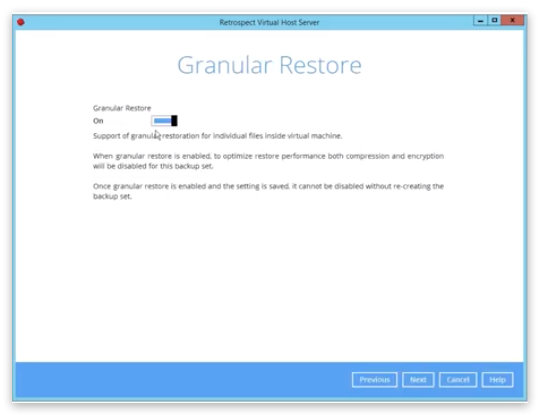 Virtual demo 15 granular restore