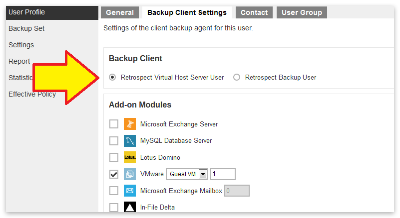 Virtual management console type selection