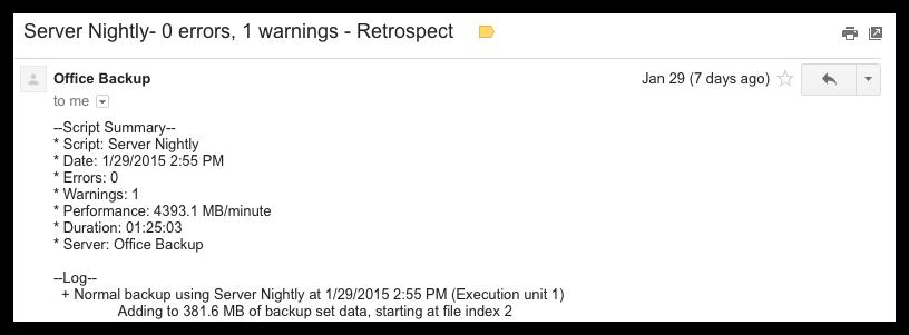 Email summaries
