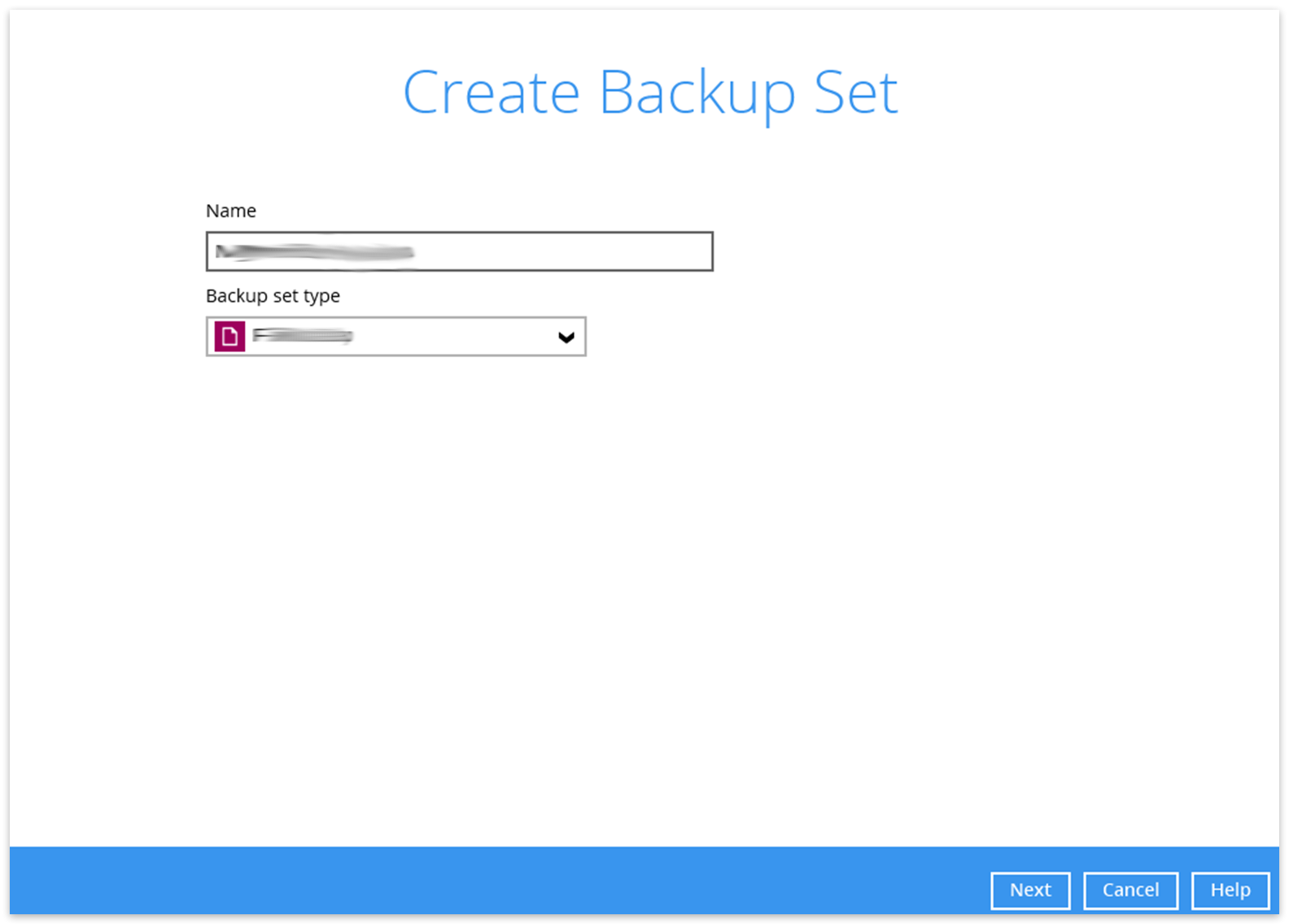 Vm create backup set