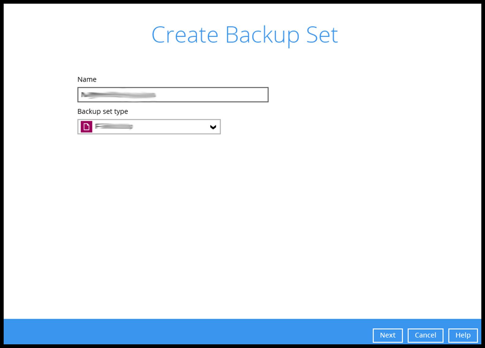 Vm create backup set