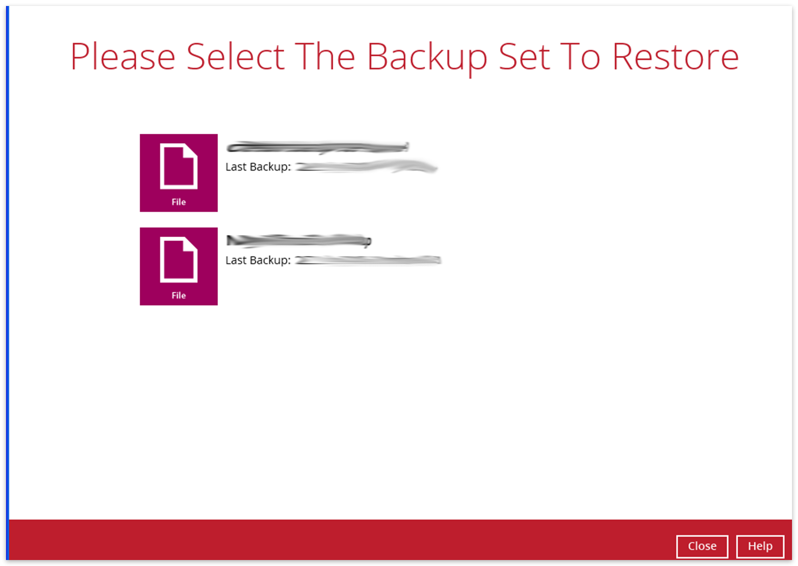 Vm restore backup