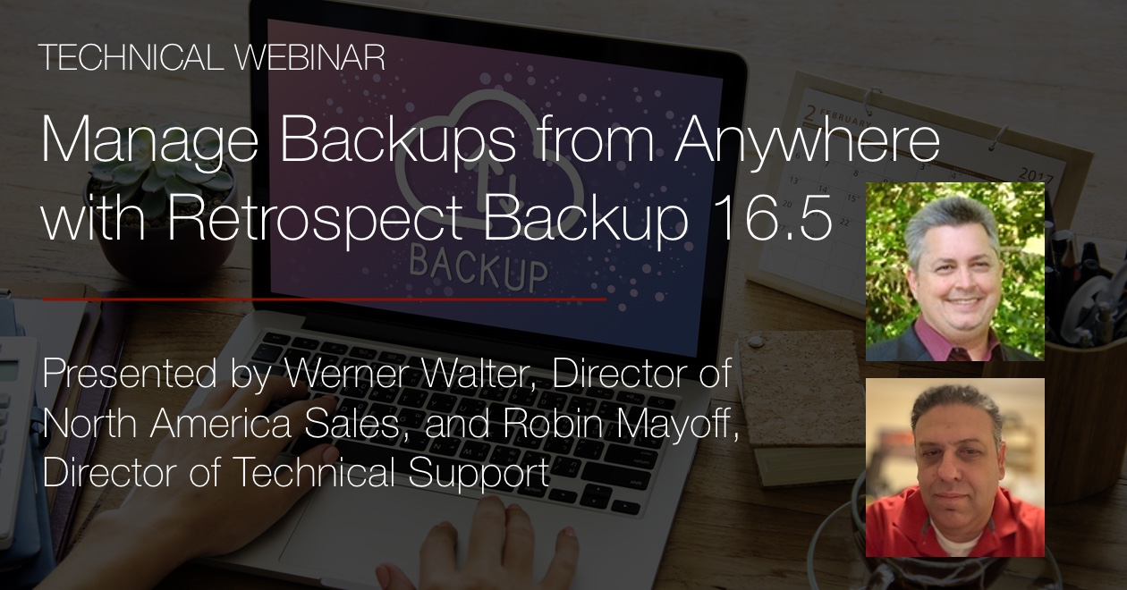 Webinar manage backups from anywhere