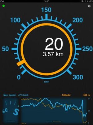 Screenshot Speedometer Speed Box on iPad