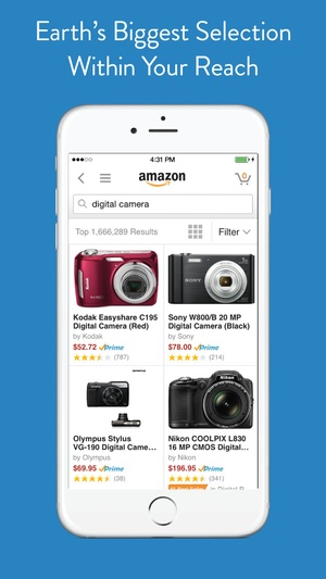 Screenshot Amazon App on iPhone