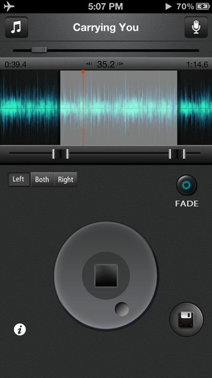 Screenshot Ringtone Maker Pro on iPhone