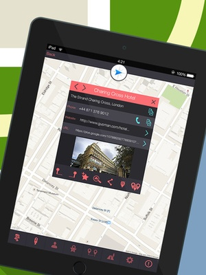 Screenshot GPS Navigation for Google Maps on iPad