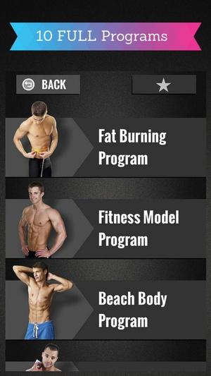 Screenshot Gym Workout Programs on iPhone