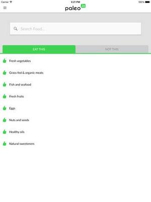 Screenshot Paleo (io) on iPad