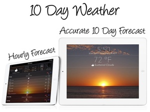 Screenshot 10 Day Weather: Extended detailed hourly forecast with animated live background on iPad