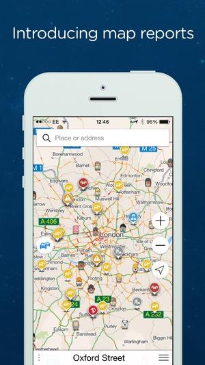 Screenshot Navmii GPS France: Navigation, Maps and Traffic (Navfree GPS) on iPhone