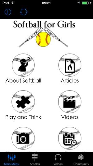 Screenshot Softball for Girls the Fundamentals of Softball on iPhone