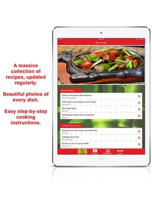 Screenshot Yan Can Cook Recipes on iPad