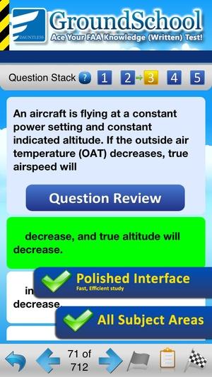 Screenshot GroundSchool FAA Knowledge Test Prep on iPhone