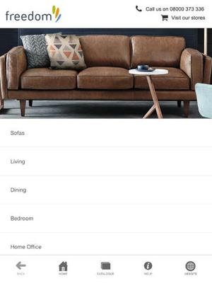 Screenshot Freedom Furniture on iPad