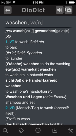 Screenshot Collins Deluxe German on iPhone