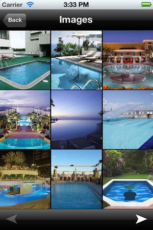 Screenshot Swimming Pools Catalog and Ideas on iPhone