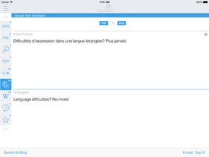 Screenshot French English Dictionary and Translator (Le Dictionnaire Français on iPad