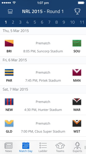 Screenshot Rugby League Live on iPhone