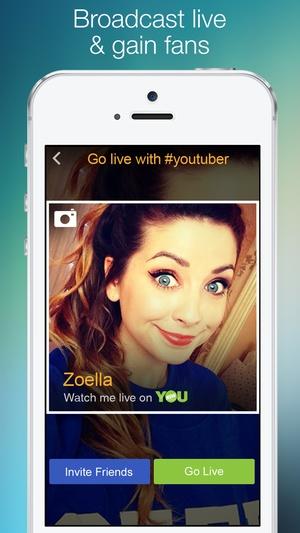Screenshot YouNow on iPhone