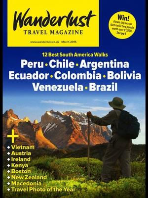 Screenshot Wanderlust Travel Magazine on iPad