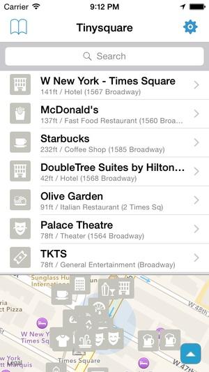 Screenshot Tinysquare for foursquare(swarm) on iPhone