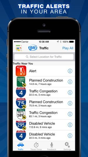 Screenshot Florida 511 on iPhone