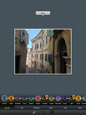 Screenshot Frametastic on iPad
