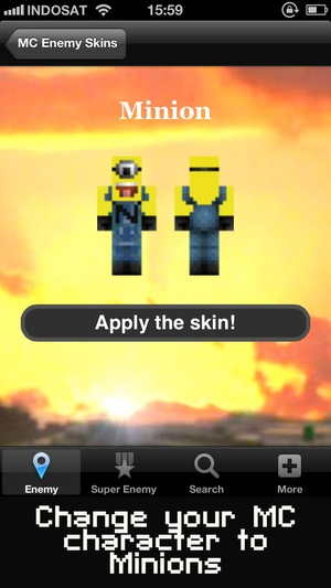 Screenshot Creeper Skins Maker for Minecraft Free Edition on iPhone