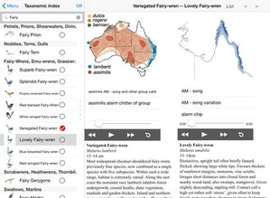 Screenshot The Michael Morcombe and David Stewart eGuide to the Birds of Australia on iPad