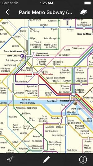 Screenshot Metro Maps on iPhone