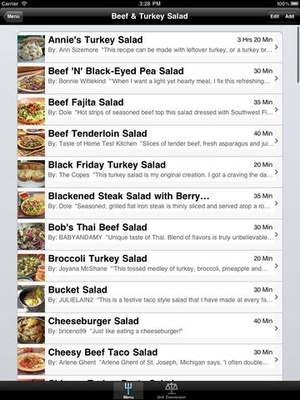 Screenshot Appetizing Salads on iPad