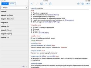 Screenshot Chambers Dictionary on iPad